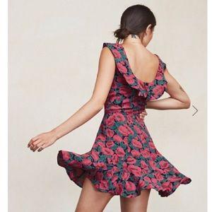 Reformation Perla Mini Dress in Poppyfield